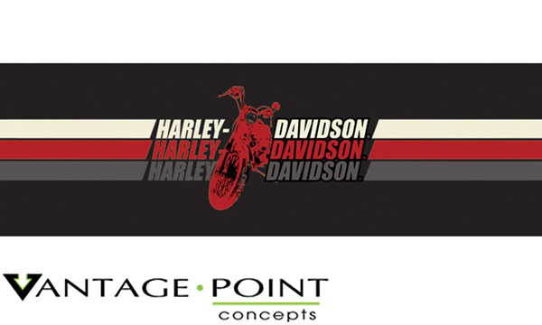 Harley davidson series triple stripe motorcycle logo color truck or suv rear window graphic