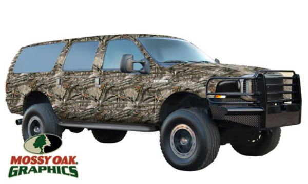 Extended Length Suv Full Vehicle Wrap By Mossy Oak Graphics Loading Zoom