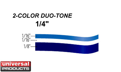 Vehicle Graphics Pinstripes Duo Tone 1 4 Inch 2 Color