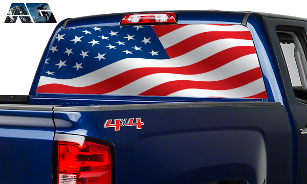 Vehicle Graphics Rear Window Graphics American Flag