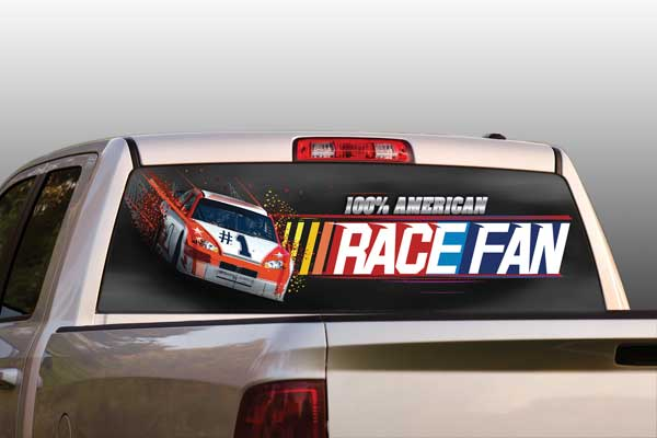 Vehicle Graphics Rear Window Graphics Nascar Racing