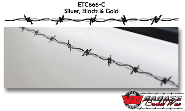 Vehicle Graphics Pinstripes Bad Ass Barbed Wire Vehicle - Barb wire custom vinyl decals for trucks