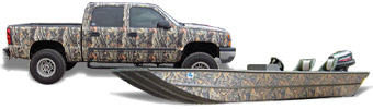 Camouflage pattern vinyl for truck wraps, ATV kits, SUV accents, duck boats, hunting gear and so much more!
