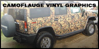 Camouflage Vinyl Graphics and Vehicle Wraps