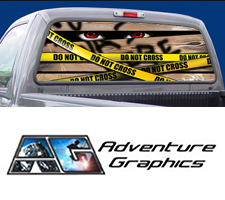 Condemned Custom Truck or SUV Rear Window Graphic by Adventure Graphics