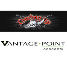 Cowboy Up Skull Truck or SUV Rear Window Graphic by Vantage Point Concepts