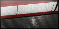 Diamond plate striping, carbon fiber roll striping.