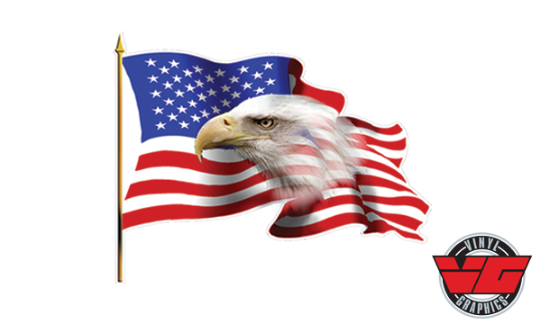 Vehicle Graphics Car Decals Stickers American Usa Flag Eagle Decal