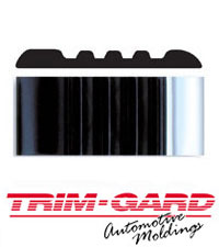 2 3/8 in. Embossed Black/Chrome Truck and Van Molding/Trim by Trim-Gard