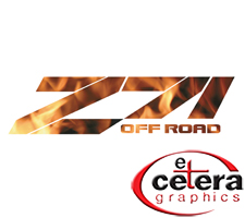 Z71 Off Road Flame Truck Decal by Etc. Graphics