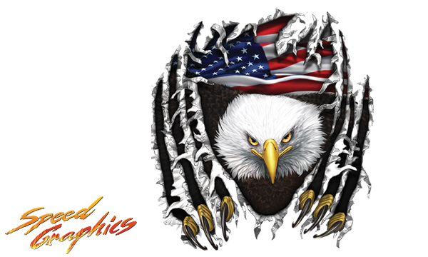 Vehicle Graphics Graphics By Style American Flag Eagle Tear