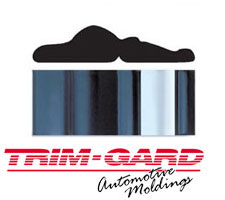 2 3/8 in. Black/Chrome Truck and Van Molding by Trim-Gard