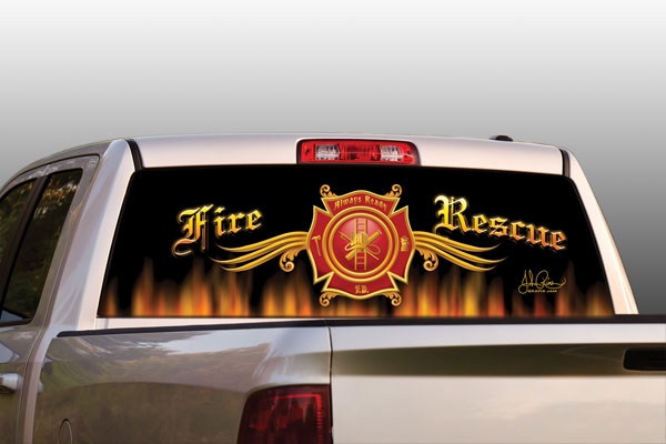 Vehicle Graphics Original Series Fire Rescue Truck Or
