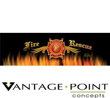 Original Series - Fire Rescue Truck or SUV Rear Window Graphic by Vantage Point Concepts