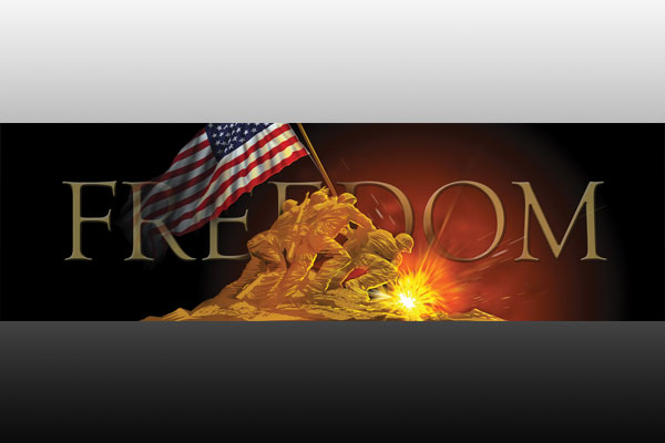 Vehicle Graphics Original Series Freedom Flag Raising