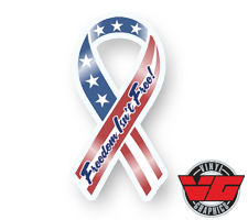 Freedom Isn't Free Patriotic Ribbon Decal