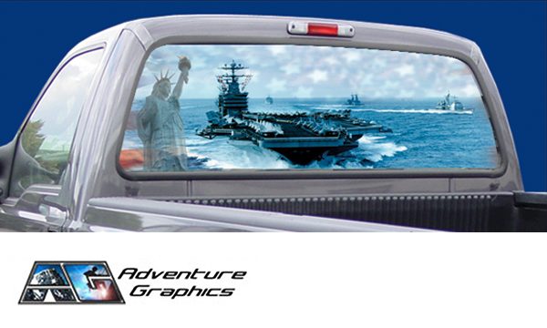 Vehicle Graphics Rear Window Graphics Go Navy Custom
