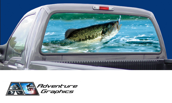 Vehicle Graphics Rear Window Graphics Fishing Rear