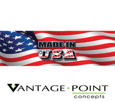 Made In USA Truck or SUV Rear Window Graphic by Vantage Point Concepts