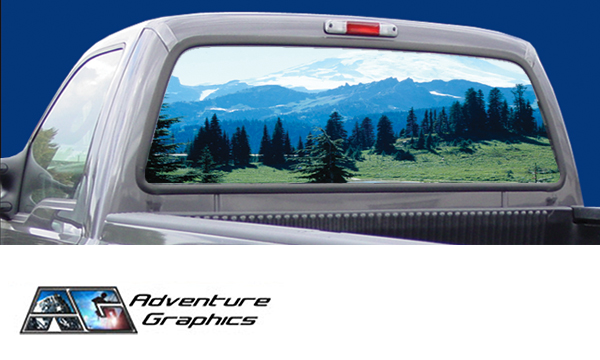 Vehicle Graphics Rear Window Graphics Misty Mountain
