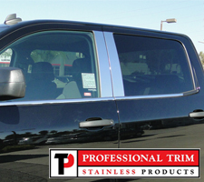 Professional Trim 14-Up Chevrolet Crew Cab Stainless Steel Pillar Posts