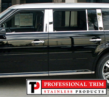 Professional Trim 09-Up Ford Flex Stainless Steel Pillar Posts