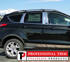 Professional Trim 13-Up Ford Escape Stainless Steel Pillar Posts