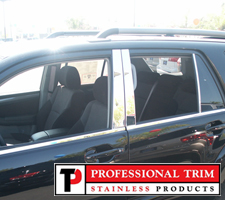 Professional Trim 03-09 Toyota 4Runner Stainless Steel Pillar Posts