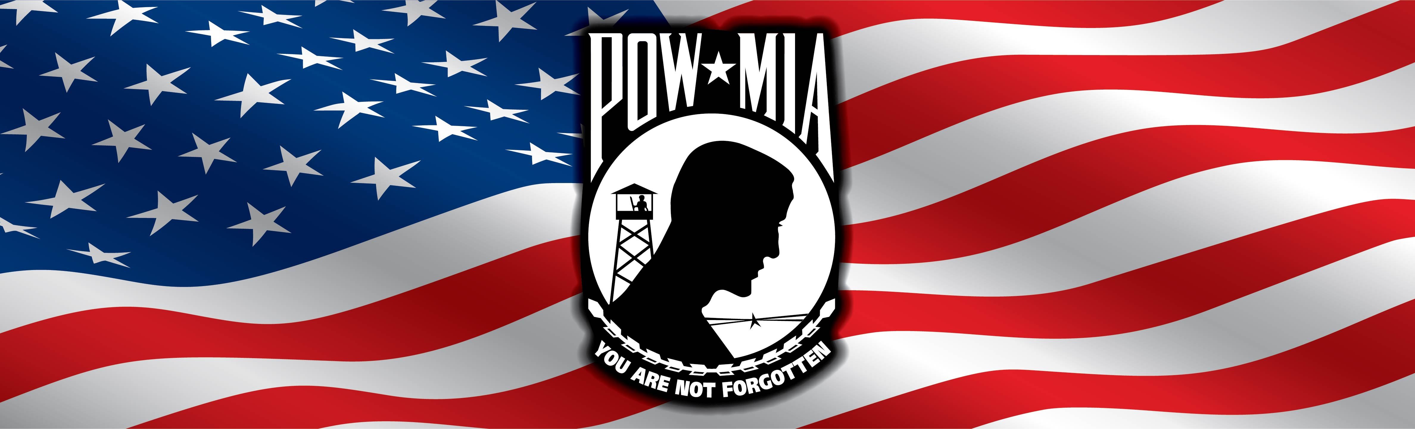Pow mia american flag rear window graphic by adventure graphics
