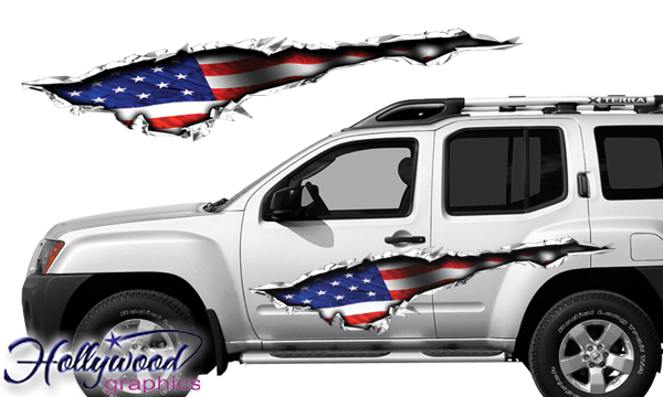 Vehicle Graphics Graphics By Style Patriotic American Flag - Auto graphics for carillusionsgfx custom automotive graphics