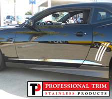 Professional Trim 10-Up Chevrolet Camaro Stainless Steel Angled Accent Trim
