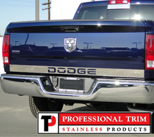 "Professional Trim 02-08 Dodge Ram Stainless Steel 3 1/4"" Tailgate Accent Trim w/ Text"