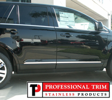 "Professional Trim 07-14 Ford Edge/MK X Stainless Steel 1"" Lower Accent Trim"