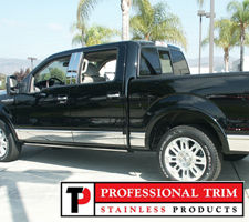 "Professional Trim 09-14 Ford F150 Platinum Crew Cab 5.5"" Stainless Steel Rocker Panels"