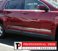 "Professional Trim 10-Up GMC Terrain 1 1/2"" Stainless Steel Accent Trim"