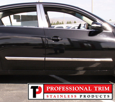 "Professional Trim 07-12 Nissan Altima 1 3/4"" Stainless Steel Body Side Molding Overlay"