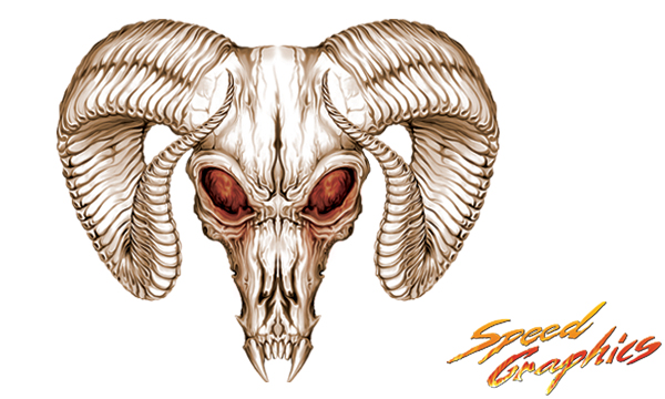 Vehicle Graphics Graphics By Style Ram Skull Truck Decals
