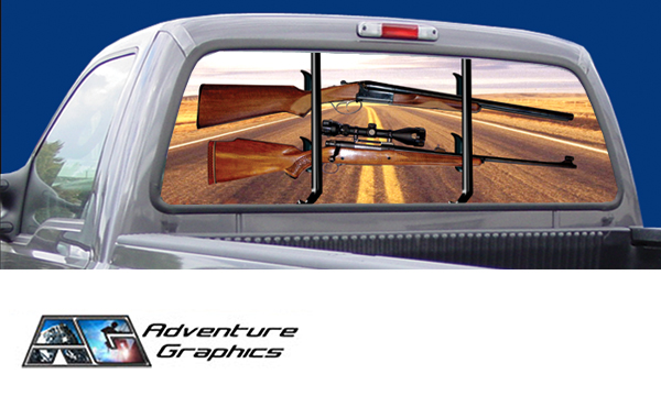 Road hunter custom truck or suv rear window graphic by adventure graphics