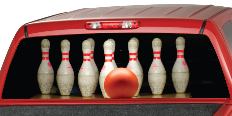 Bowling Rear Window Graphic