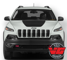 2014-16 Jeep Cherokee Hood Blackout Graphic