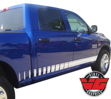 2015 Dodge Ram Strobe Rocker Panel Stripes