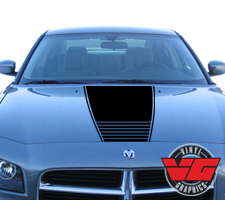 Dodge Charger Strobe Narrow Hood Graphic