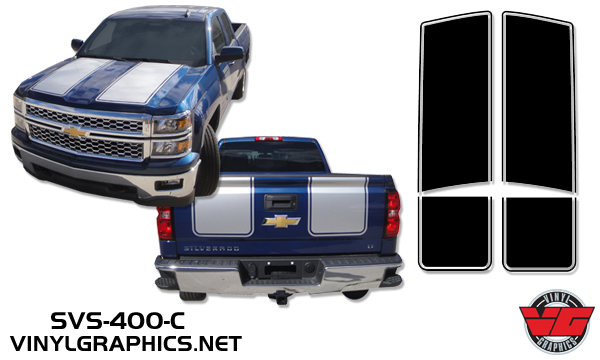 Vehicle Graphics Rally Stripe Decals 2015 Chevy