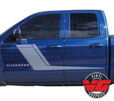 2013-2016 Chevy Silverado Solid Door Hockey Stripes
