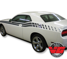 11-14 Dodge Challenger Strobe Dual Side Stripes