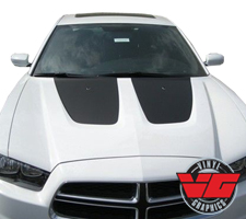 Dodge Charger Solid Hood Inserts