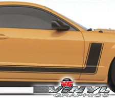 05-09 Mustang Hockey Stripes with Single Hood Stripe