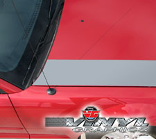 05-09 Mustang Solid Hood Accent Stripes