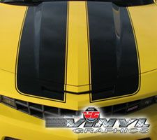 2010 Camaro Extended Bumblebee Stripes WITH Spoiler