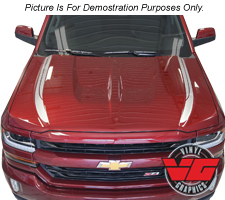 2016 Chevy Silverado Solid Lateral Hood Spikes
